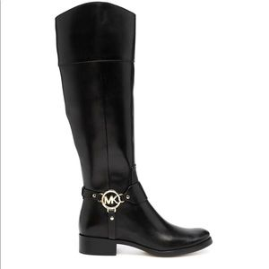 Micheal Kors Fulton Harness Leather boots